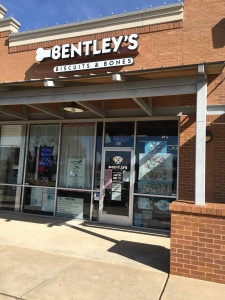 An outside view of Bentley's Biscuits & Bones, which opened its doors on Aug. 7, 2010.