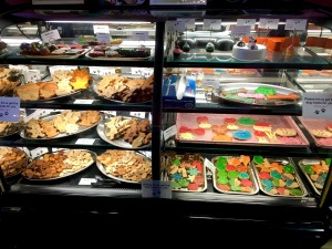 An assortment of cookies and cakes can be picked up at Bentley's Biscuits & Bones at any time during the store's hours. All are made fresh in the store's bakery each day.
